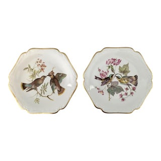 German Floral Bird Plates - a Pair