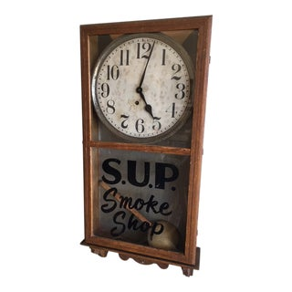 Vintage Sup Smoke Shop Wall Clock For Sale