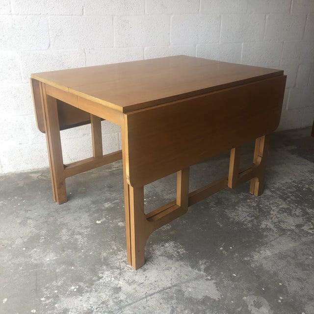 Edward Wormley Vintage Mid Century Modern Expanding Dining Table by Edward Wormley for Drexel Furniture For Sale - Image 4 of 13
