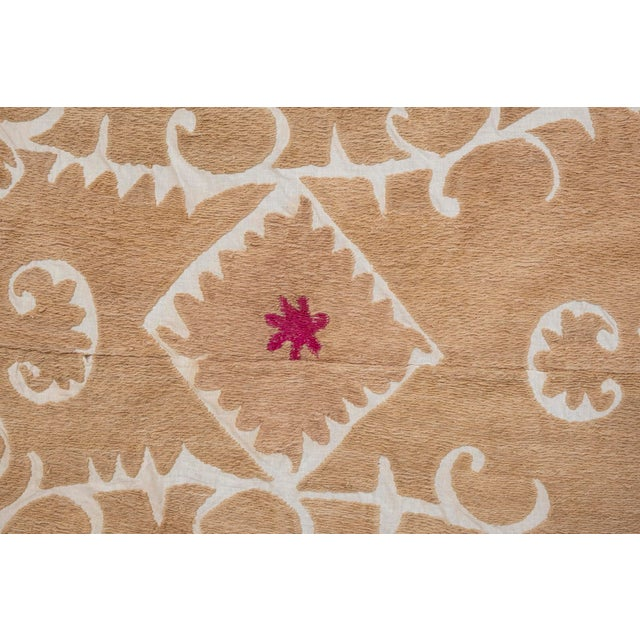 """1970s Tribal Embroidery Wall Decor, Suzani Bedspread 8'2"""" X 11'6"""" For Sale - Image 5 of 13"""