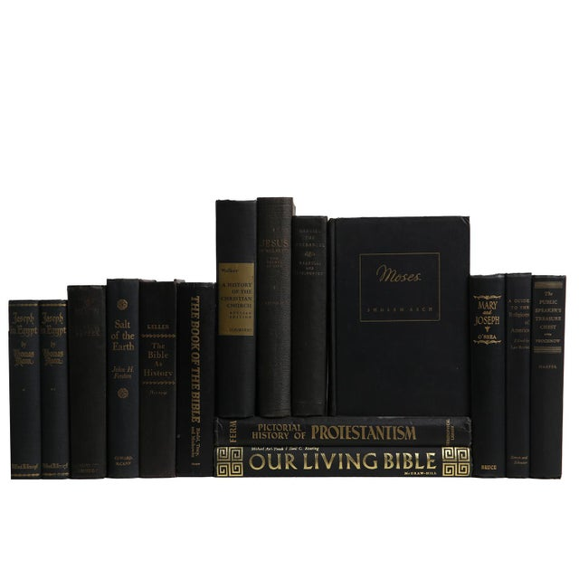 Religious Vintage Book Selections in Black: The Christian Church - Set of 15 For Sale - Image 3 of 3