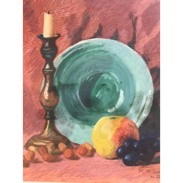 Vintage Pastel Still Life by Harris For Sale - Image 4 of 6