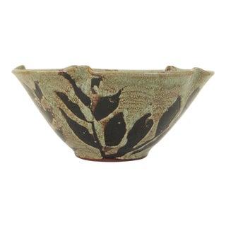 Large Hand Made Glazed Ceramic Decorative Bowl For Sale