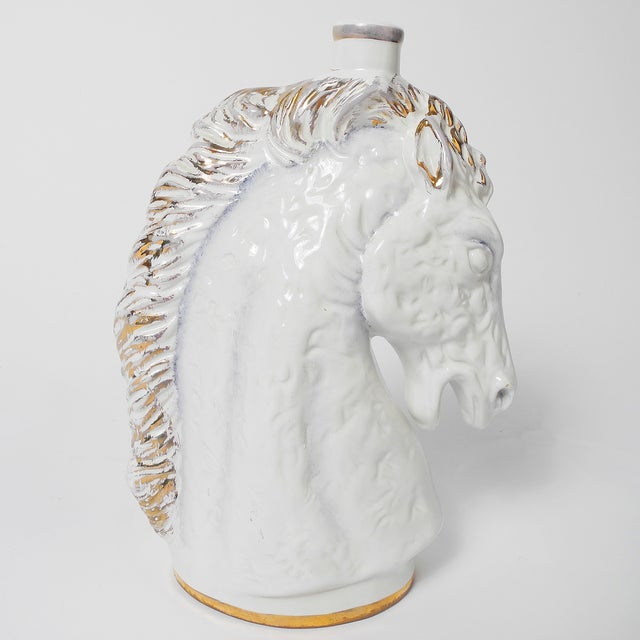 Italian Italian Borghini White Wine Horse Head Decanter For Sale - Image 3 of 8