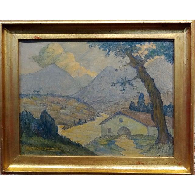 """Valentin de Zubiaurre Jr - 1920s Spanish Basque Landscape -Oil painting oil painting on canvas -Signed size canvas 13x10""""..."""