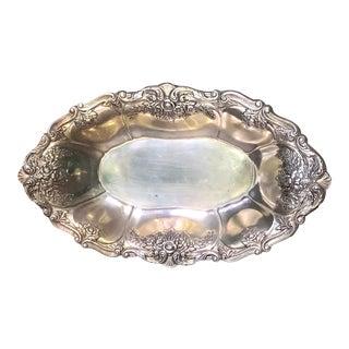 1980s Art Nouveau St. Saint Regis by Wallace Silver Plate Oval Bowl For Sale