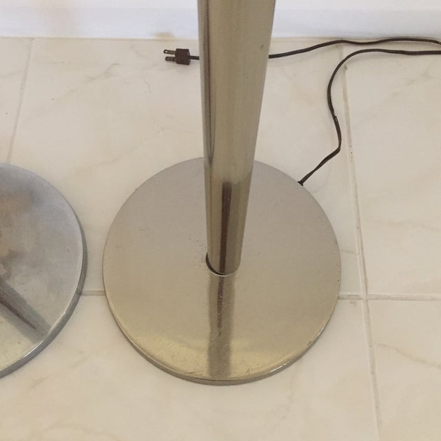 1970s Modern Chrome Tulip Uplighting Torchieres Floor Lamps - A Pair For Sale - Image 4 of 13