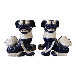 20th Century Chinoiserie Foo Dogs - a Pair For Sale