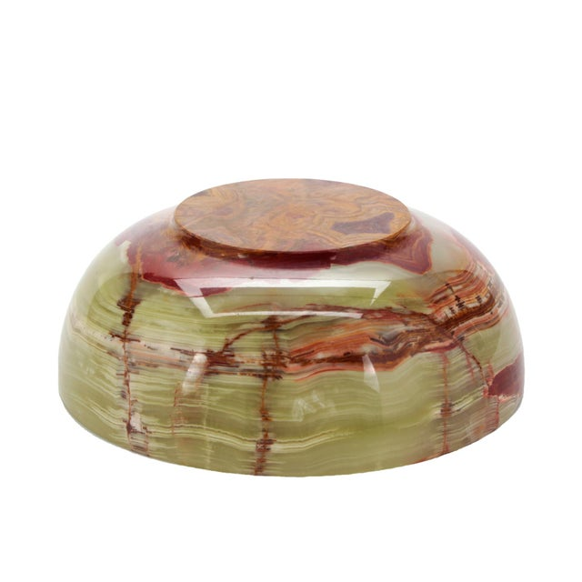 Contemporary Large Hand-Carved Onyx Bowl For Sale - Image 3 of 5