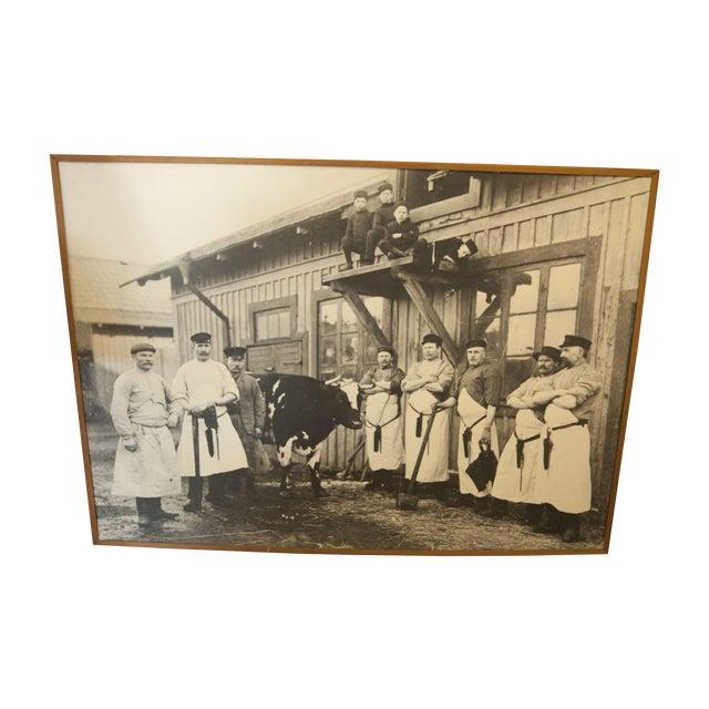 Large Vintage Butcher Photo For Sale