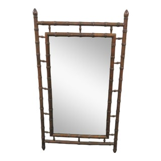 Florentia Italian Faux Bamboo Mirror For Sale