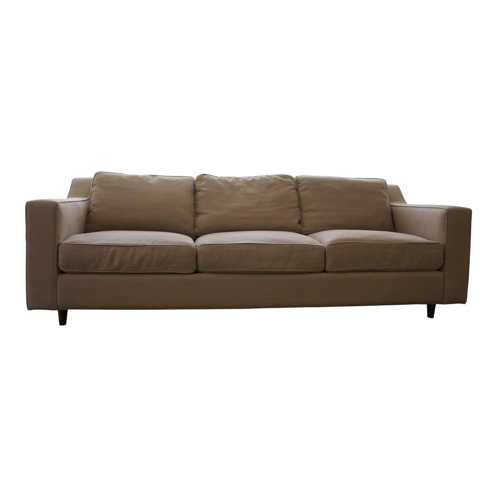 Modern dwell natural linen studio sofa chairish