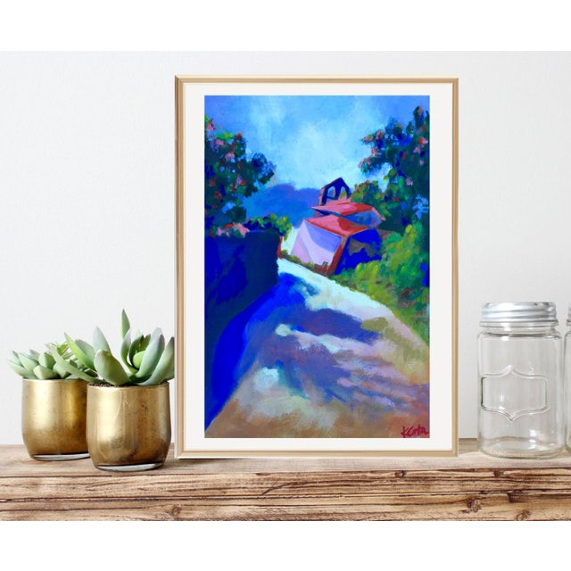 This piece is a museum quality fine art giclee print on custom stretched canvas from an original painting by Kandi Cota....