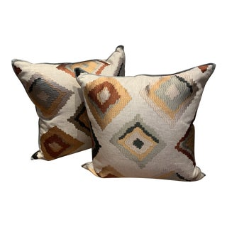 Lee Jofa Fabric Pillows - a Pair For Sale