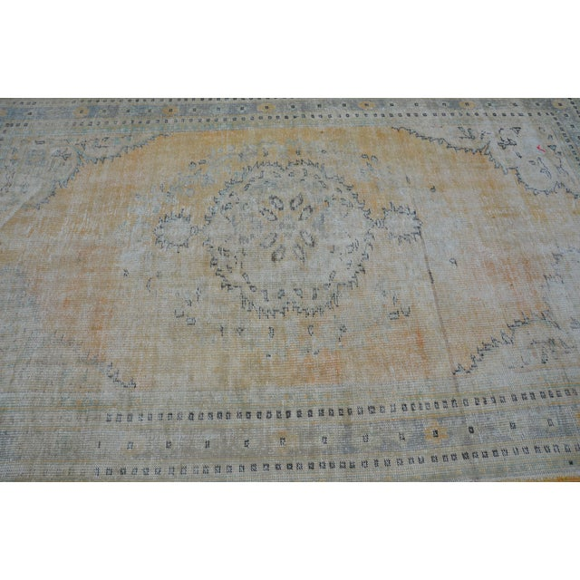 """Faded Bohemian Turkish Area Carpet - 69"""" x 110"""" For Sale - Image 5 of 7"""