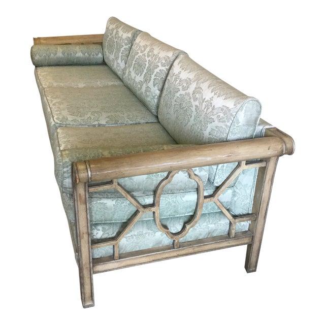 Palm Beach Regency Dorothy Draper Style Fretwork Sofa - Image 1 of 12