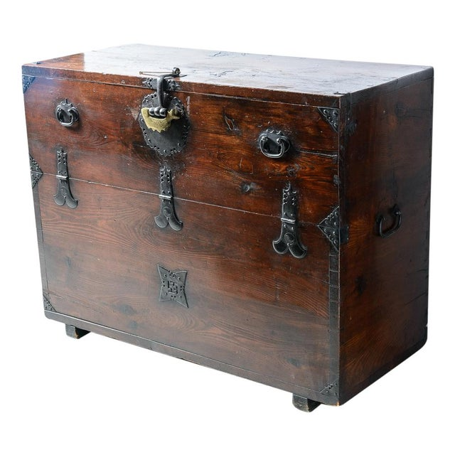 """Early 19th Century Japanese """"Tansu"""" Chest For Sale - Image 9 of 9"""