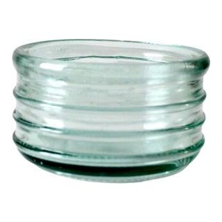 Vintage Ribbed Glass Bowl For Sale