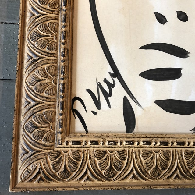 Abstract Original Vintage Peter Robert Keil Abstract Face Painting 1989's Framed For Sale - Image 3 of 5