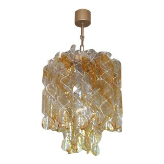 Murano Spiral Glass Chandelier