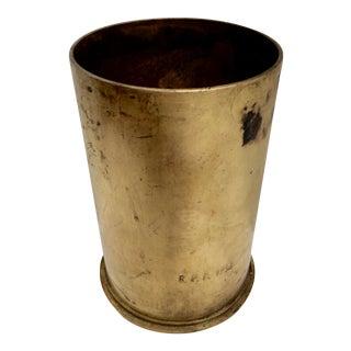 1943 Trench Art Brass Shell Casing Urn