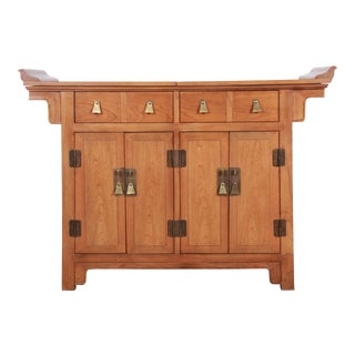 Michael Taylor for Baker Furniture Chinoiserie Buffet Server or Bar Cabinet For Sale