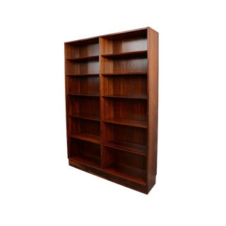 1960s Vintage Hundevad Rosewood Double Bookcase For Sale