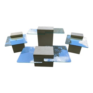 1970's Contemporary Modern Cocktail Tables - Set of 4 For Sale