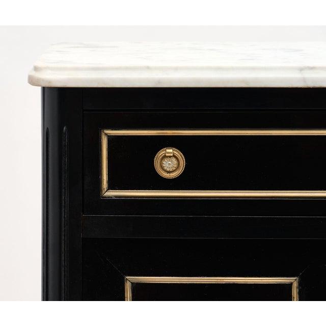 Petite Louis XVI Style Ebonized Mahogany Bookcase For Sale In Austin - Image 6 of 10