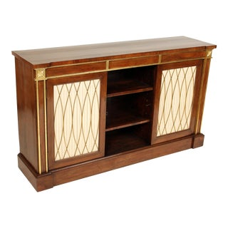 English Regency Rosewood Bookcase For Sale