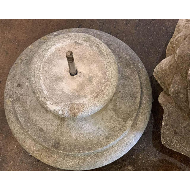 English Garden Stone Finial For Sale - Image 11 of 13
