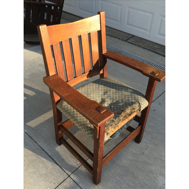 Early 19th-C. Gustav Stickley Armchair - Image 4 of 11