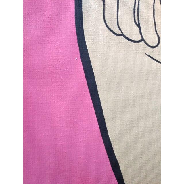 Lictenstien Inspired Original Pop Art Acrylic Painting For Sale - Image 10 of 11