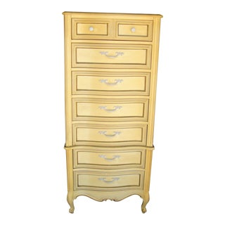 Vintage French Provincial Highboy Dresser. For Sale
