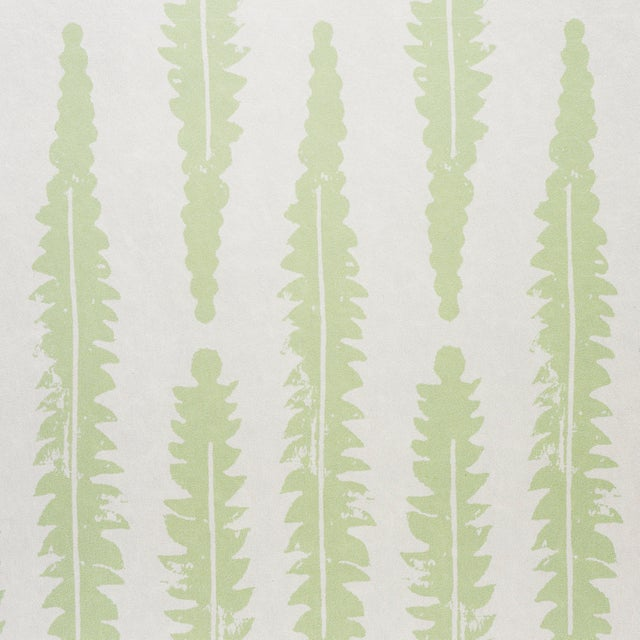 Contemporary Sample - Schumacher x Molly Mahon Fern Wallpaper in Sage For Sale - Image 3 of 5