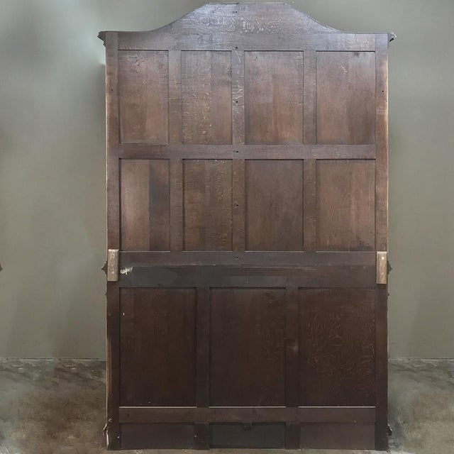 19th Century Country French Provincial Stripped Bookcase ~ Vitrine For Sale - Image 12 of 13