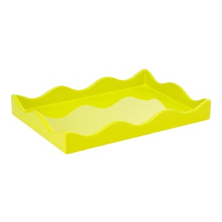 Rita Konig for the Lacquer Company Belles Rives Tray in Acid Drop, Small For Sale