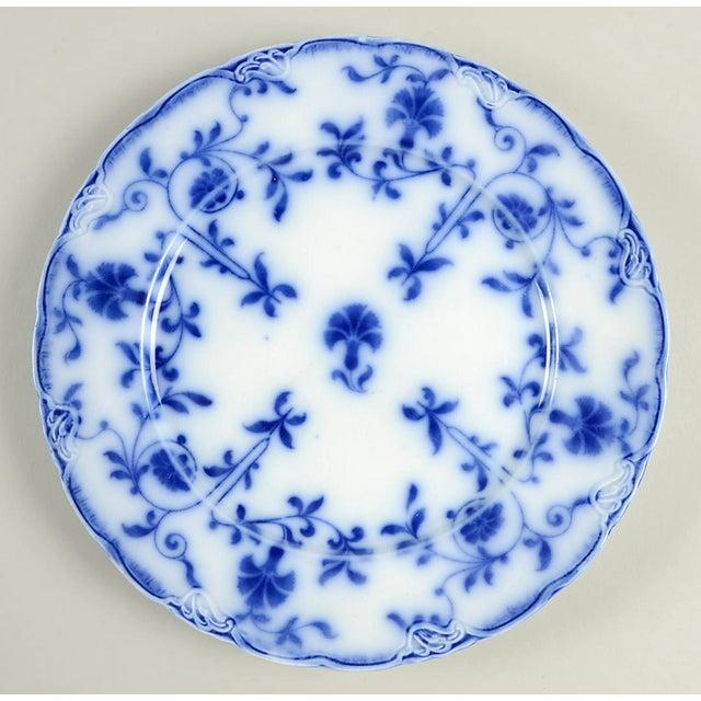 Vintage Mixed Flow Blue Dinner Plates - Set of 8 For Sale - Image 4 of 10
