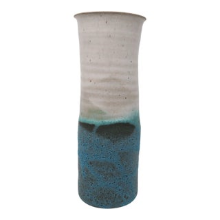 Takaezn Style Pottery Vase, Signed For Sale