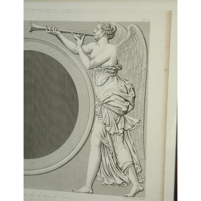French Early 19th Century Prints of the Louvre by Baltard - Set of 4 For Sale - Image 3 of 10