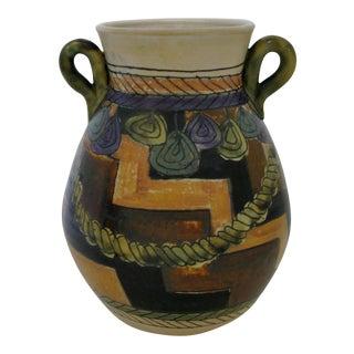 Geometric Artisan Ceramic Vase