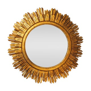 Sun Burst Large Gilt Wood Wall Mirror