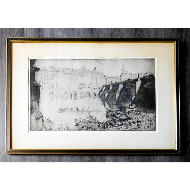 1920s 1926 Frank Brangwyn Etching Albi France For Sale - Image 5 of 5