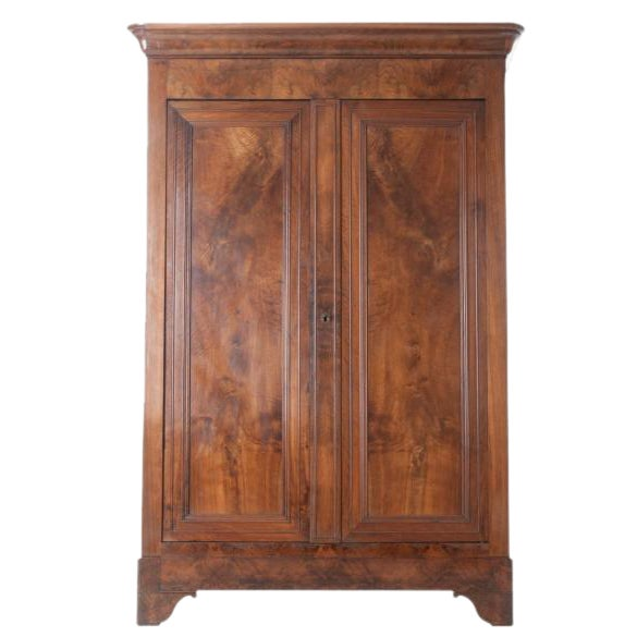 French 19th Century Walnut Louis Philippe Armoire - Image 1 of 10