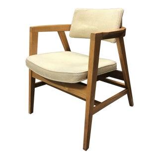 Vintage Gunlocke Mid Century Modern Danish Style Steam Back Arm Chair For Sale