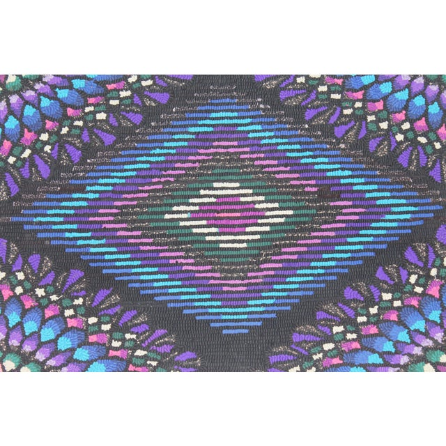 20th Century P.A. Mennonite Geometric Mounted Rug For Sale - Image 4 of 5