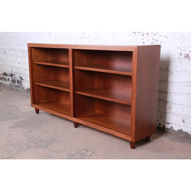 Edward Wormley for Dunbar Mahogany Double Bookcase For Sale - Image 11 of 11