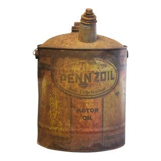 Vintage Pennzoil Motor Oil Can