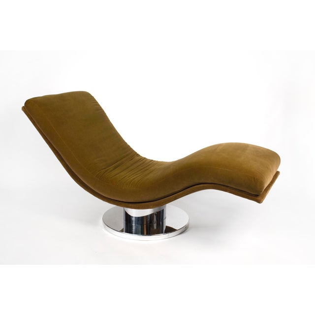 Swivel chaise longue designed by Milo Baughman for Thayer Coggin, 1970s.