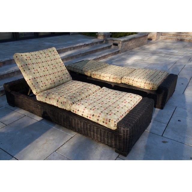 Summer Classics- Rustic Woven Chaise Lounge and Cushion For Sale In Chicago - Image 6 of 13